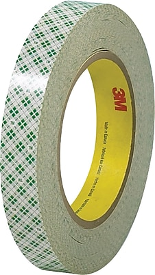"""3M 1/2"""" x 36 yds. Double Sided Masking Tape 410M, Natural, 3/Pack"""