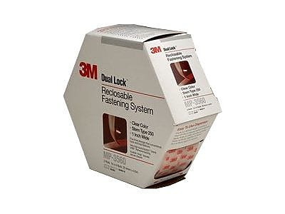 3M 15' Dual Lock Re-closable Fastener System, Clear, 2/Pack