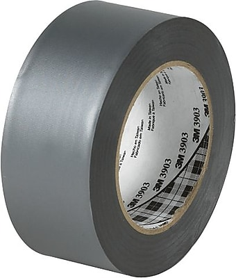 """3M 3903 Silver Duct Tape, 2"""" x 50 yds., 3/Pack"""