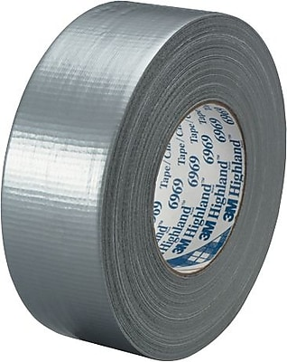 """3M #6969 Duct Tape, Silver, 2"""" x 60 yds., 3/Pack"""