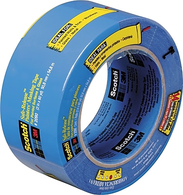 """3M ScotchBlue 3"""" x 60 yds. Masking Tape 2090, 12/Pack"""