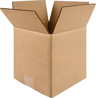 """8"""" x 8"""" x 8"""" Shipping Boxes, Brown, 25/Bundle (60-080808)"""