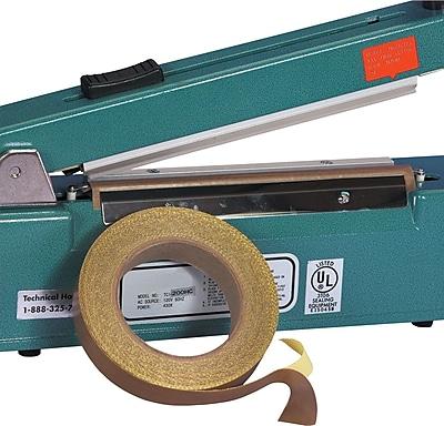 BOX 2'' x 18 yds. x 10 mil PTFE Glass Cloth Tape, 1/Pack