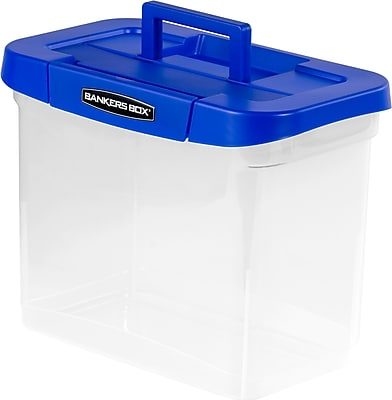 Bankers Box Heavy-Duty Plastic Portable File Storage Boxes with Organizer Lid Compartment Letter ...  sc 1 st  Moving Services Near Me & Bankers Box Heavy-Duty Plastic Portable File Storage Boxes with ...