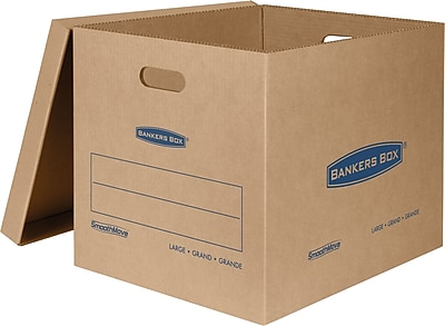 Bankers Box SmoothMove Classic Moving Boxes, Large, 21 x 17 x 17 Inches, Pack of 5 (7718201)