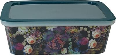 Cynthia Rowley Small Plastic Storage Box, Cosmic Black Floral
