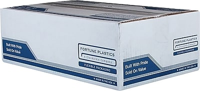 Fortune Plastics High Density Can Liners, 60 Gallon Bags, 150/Carton