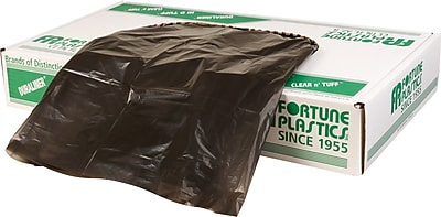 Fortune Plastics Super Hexene Can Liner, 30 Gallon Bags, 250/Carton