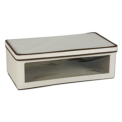 Household Essentials Large Vision Storage Box, Natural/Brown