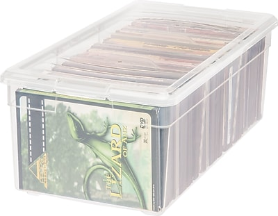 IRIS 15 Quart Media Storage Box, 6 Pack (166070)