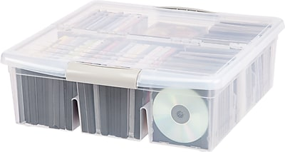 IRIS Media Storage Box, Clear, 6 Pack (166200)
