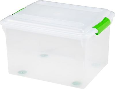 IRIS Store And Slide File Box, 4 Pack (585240)