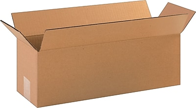 """Interstate Container Cardboard 3.75""""H x 6.5""""W x 8.75""""L Corrugated Shipping Boxes, Brown, 25/Pack"""
