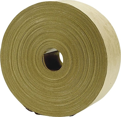 """Kraft Reinforced Paper Tape, 2.75"""" x 500 Yds, Natural, 1/Roll (630639)"""