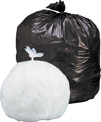 """National Industries Trash Bag, Heavy-Duty, 34 Gallon, Clear, 32"""" x 44"""", 125/Box"""