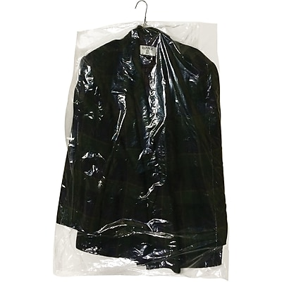 """Partners Brand Garment Bags, 0.6 Mil ,21"""" x 7"""" x 54"""", Clear, 350/Roll (GB21754)"""