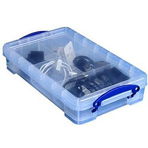 Really Useful 2.5 L Storage Box, Clear (2.5CL)