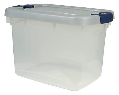 Rubbermaid 19 qt Roughneck Storage Box, Clear