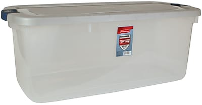 Rubbermaid 95 qt Roughneck Storage Box, Clear