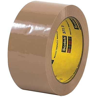 """Scotch 371 Carton Sealing Tape, 2"""" x 55 Yds, Tan, 6/Rolls (T901371T6PK)"""