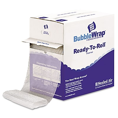 """Sealed Air Bubble Wrap Cushioning Material, 0.500"""" Thick, 12"""" x 65 ft, 65/Carton (1000022501)"""