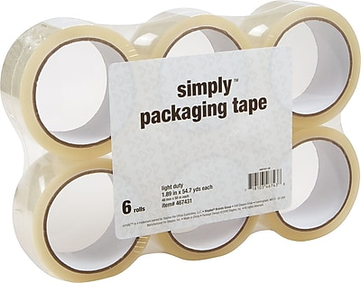 """Simply Economy Grade Packaging Tape, 1.89"""" x 54.7 Yds, Clear, 6/Rolls (ST-A18SIMP)"""