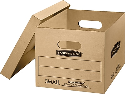 SmoothMove Small Classic Moving and Storage Boxes, 5/Pack