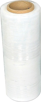 """Staples Blown Stretch Wrap, 18"""" x 1500', 51 Gauge, 4 Rolls/CS"""