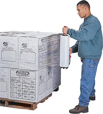 """Staples Handheld Blown Stretch Wrap 15""""W x 2000'L 60 gauge 04 Rolls/Case (SW1560)"""