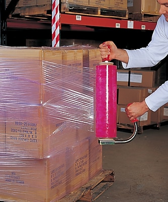 """Staples Multi-Tinted Stretch Wrap Red 18"""" x 1,500' 80 gauge 4 rolls/case (9118801)"""