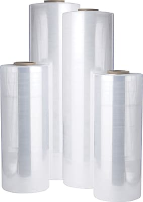 """Staples Stretch Wrap 18"""" x 1500', 80 Gauge, 4 Rolls/CS"""