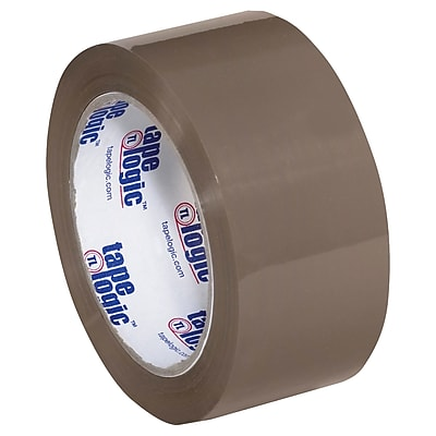 """Tape Logic #600 Hot Melt Tape, 2"""" x 110 yds., Tan, 6/Case (T902600T6PK)"""