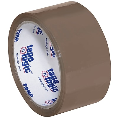 """Tape Logic #600 Hot Melt Tape, 2"""" x 55 yds., Tan, 6/Case (T901600T6PK)"""