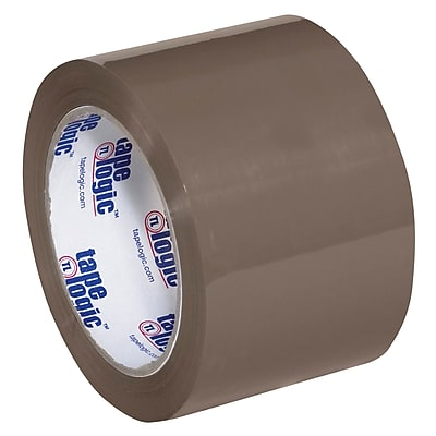 """Tape Logic #600 Hot Melt Tape, 3"""" x 110 yds., Tan, 6/Case (T905600T6PK)"""