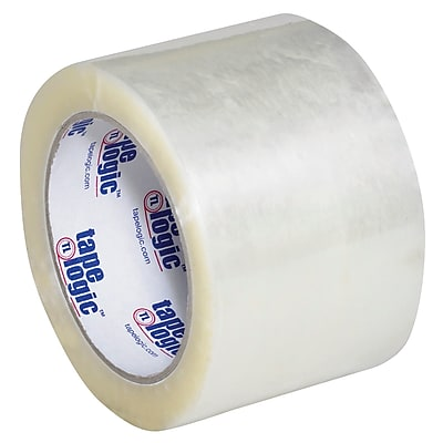 """Tape Logic #800 Hot Melt Tape, 3"""" x 110 yds., Clear, 6/Case (T9058006PK)"""