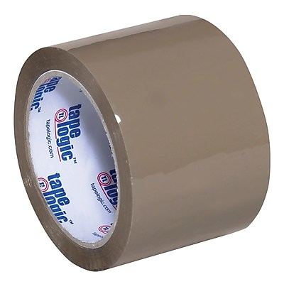 """Tape Logic Acrylic Tape, 2.6 Mil, 3"""" x 110 yds., Tan, 6/Case (T9052291T6PK)"""
