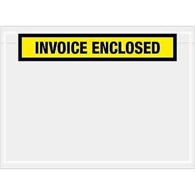 """Tape Logic """"Invoice Enclosed"""" Envelopes, 7 1/2"""" x 5 1/2"""", Yellow, 1000/Case (PL528)"""