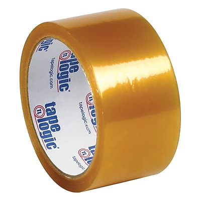 """Tape Logic Natural Rubber Tape, 2.2 Mil, 2"""" x 55 yds., Clear, 6/Case (T901516PK)"""