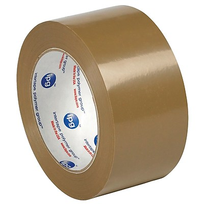 """Tape Logic PVC Natural Rubber Tape, 2.2 Mil, 2"""" x 55 yds., Tan, 6/Case (T901530T6PK)"""