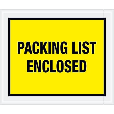 """Tape Logic """"Packing List Enclosed"""" Envelopes, 10"""" x 12"""", Yellow, 500/Case (PL428)"""
