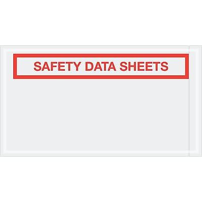 """""""Tape Logic SDS Envelopes, """"""""Safety Data Sheets"""""""", 5 1/2"""""""" x 10"""""""", Clear, 1000/Case (PL494)"""""""