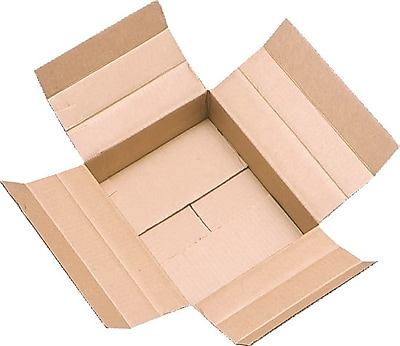 """Unicorr Packing Group Cardboard 6""""H x 6""""W x 12""""L Vari-Depth Corrugated Shipping Boxes, Brown, 25/Pack"""
