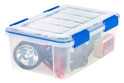 Ziploc 16 Quart WeatherShield Storage Box, 6 Pack (394025)