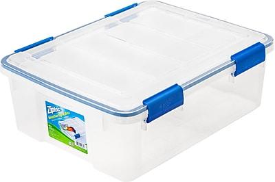 Ziploc 26.5 Quart WeatherShield Storage Box, 4 Pack (394040)
