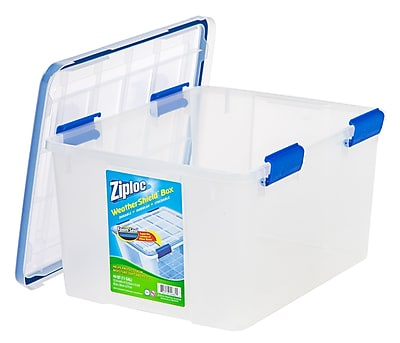 Ziploc 44 Quart WeatherShield Storage Box, 4 Pack (394055)