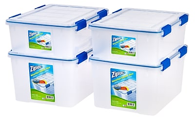 Ziploc WeatherShield Storage Box Stacking Set, 26.5 Quart & 44 Quart (394070)