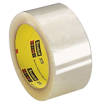 "3M 2"" x 110 yds. x 2.5 mil 373 Carton Sealing Tape, Clear 6/Pk"