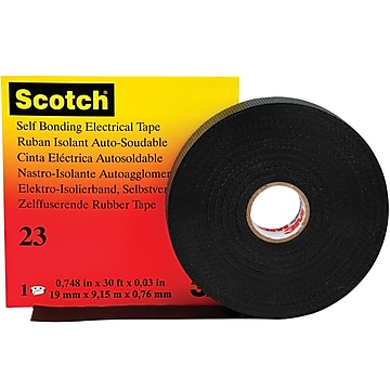 "3M 23 Electrical Tape, 30 Mil, 3/4"" x 30', Black, 2/Case (T9640232PK)"