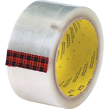 """3M #372 Hot Melt Packing Tape, 2""""x55 yds., Clear, 36/Case"""