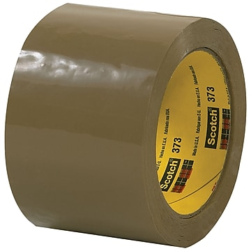 "3M 373 Carton Sealing Tape, 2.5 Mil, 3"" x 55 yds., Tan, 6/Case (T905373T6PK)"